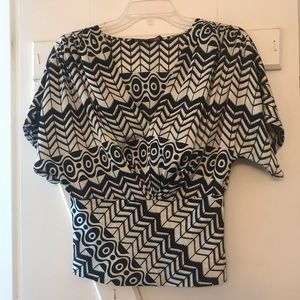 Flattering Patterned V-Neck Top